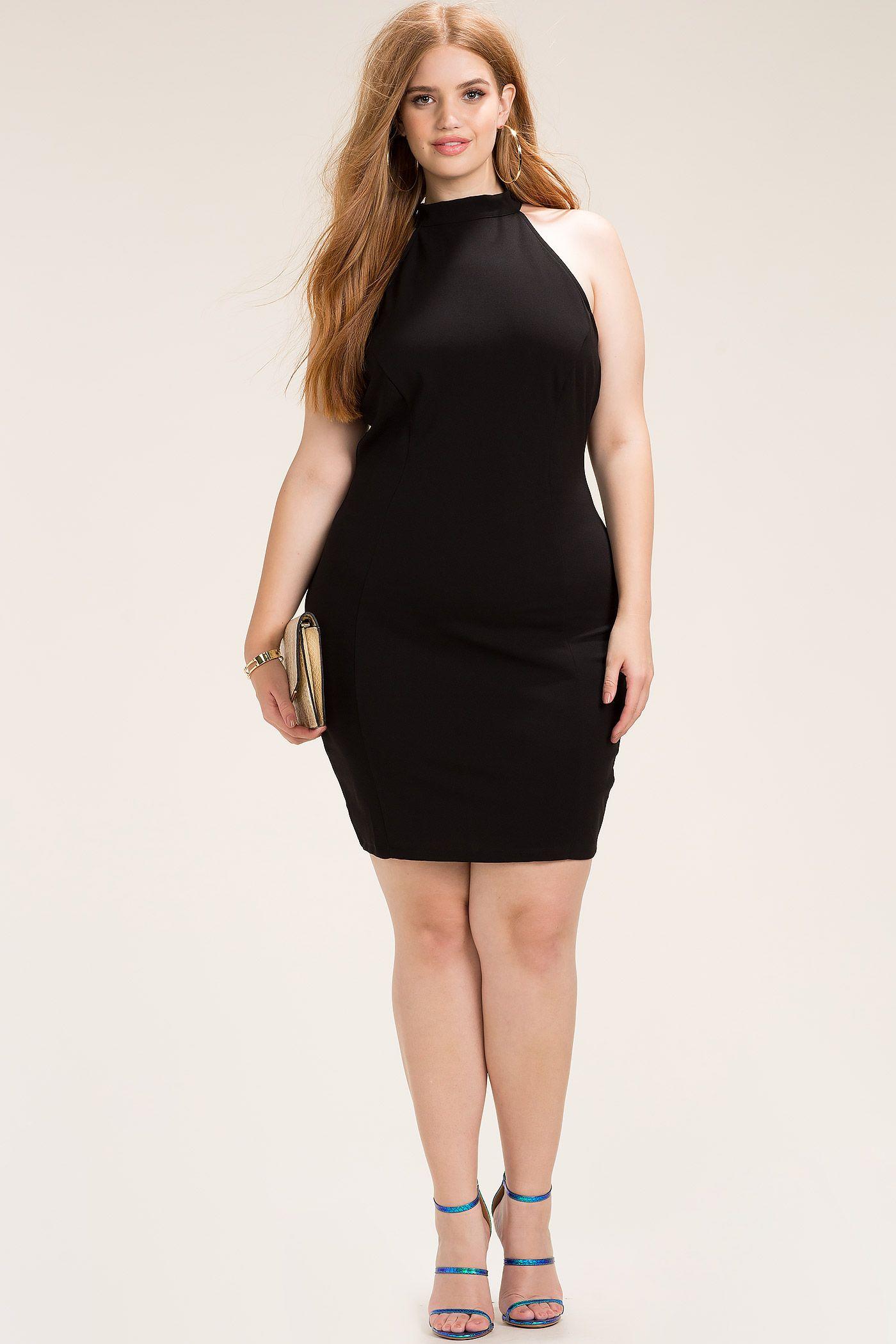 Women\'s Plus Size Bodycon Dresses | Mesh Crush Halter ...