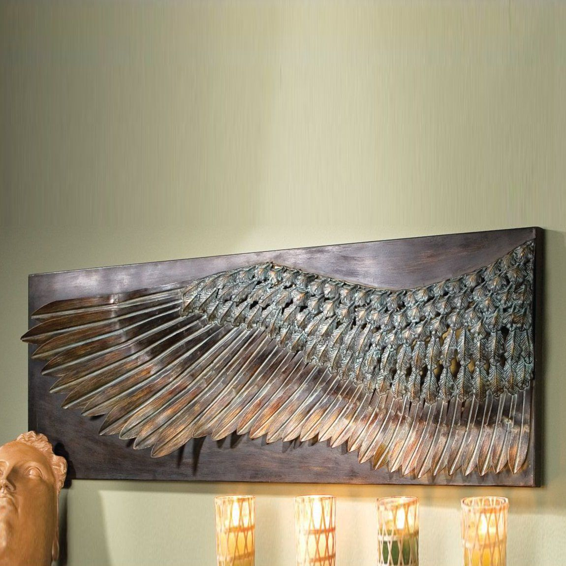 Shop Design Toscano  MH270348 Wing of Icarus Sculptural Metal Wall Frieze at ATG Stores. Browse our metal art, all with free shipping and best price guaranteed.