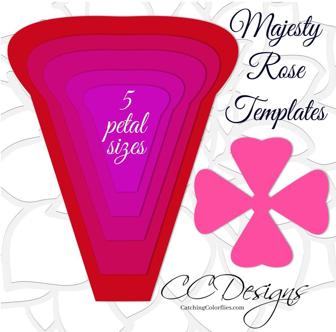 Majesty Style Rose Giant Paper Rose Templates  Molde  Pinterest