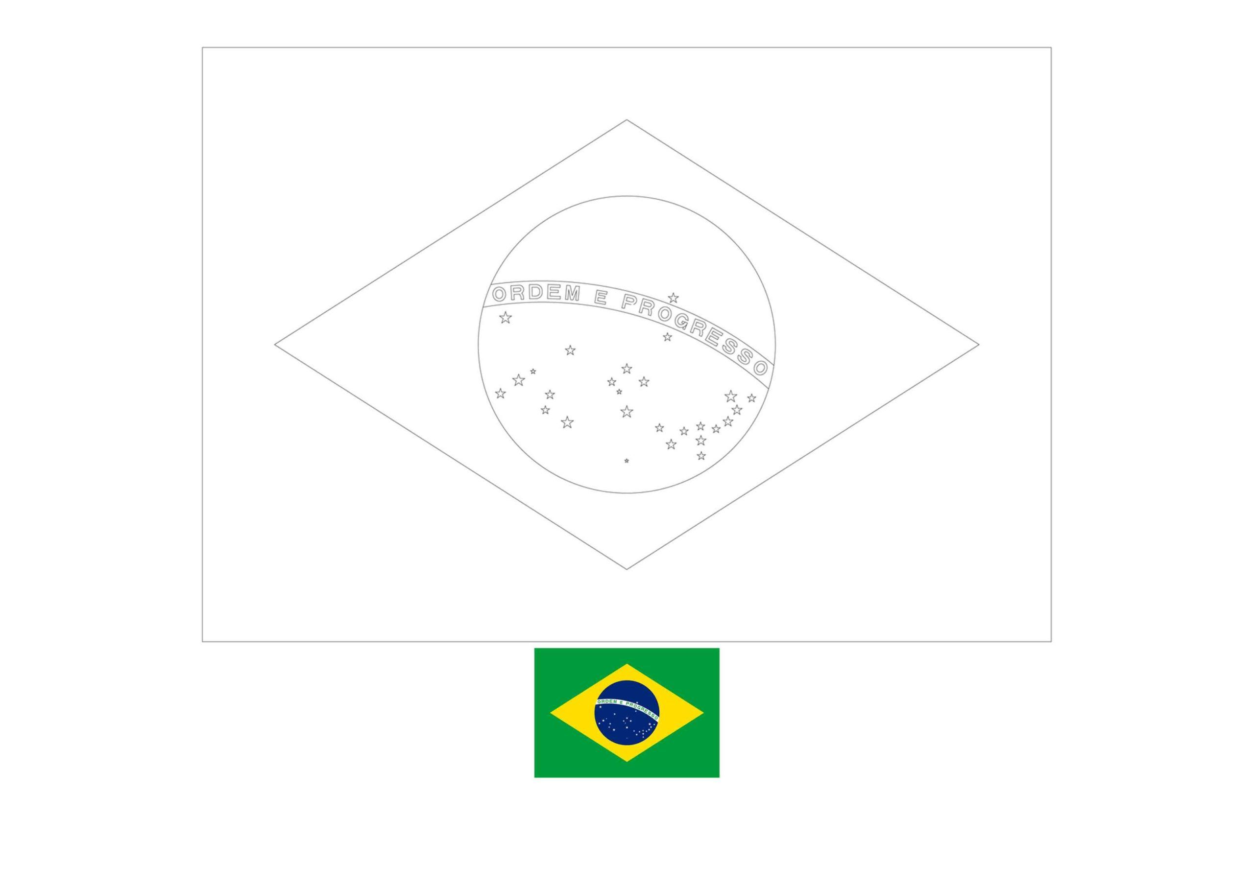 Brazil Flag Coloring Page In 2020 Flag Coloring Pages Coloring Pages Brazil Flag