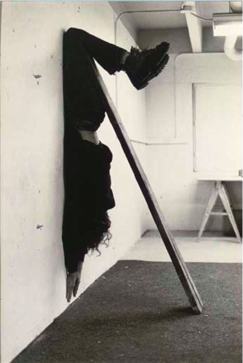 Jan Bas Ader- Unusual balance- Gravity art.