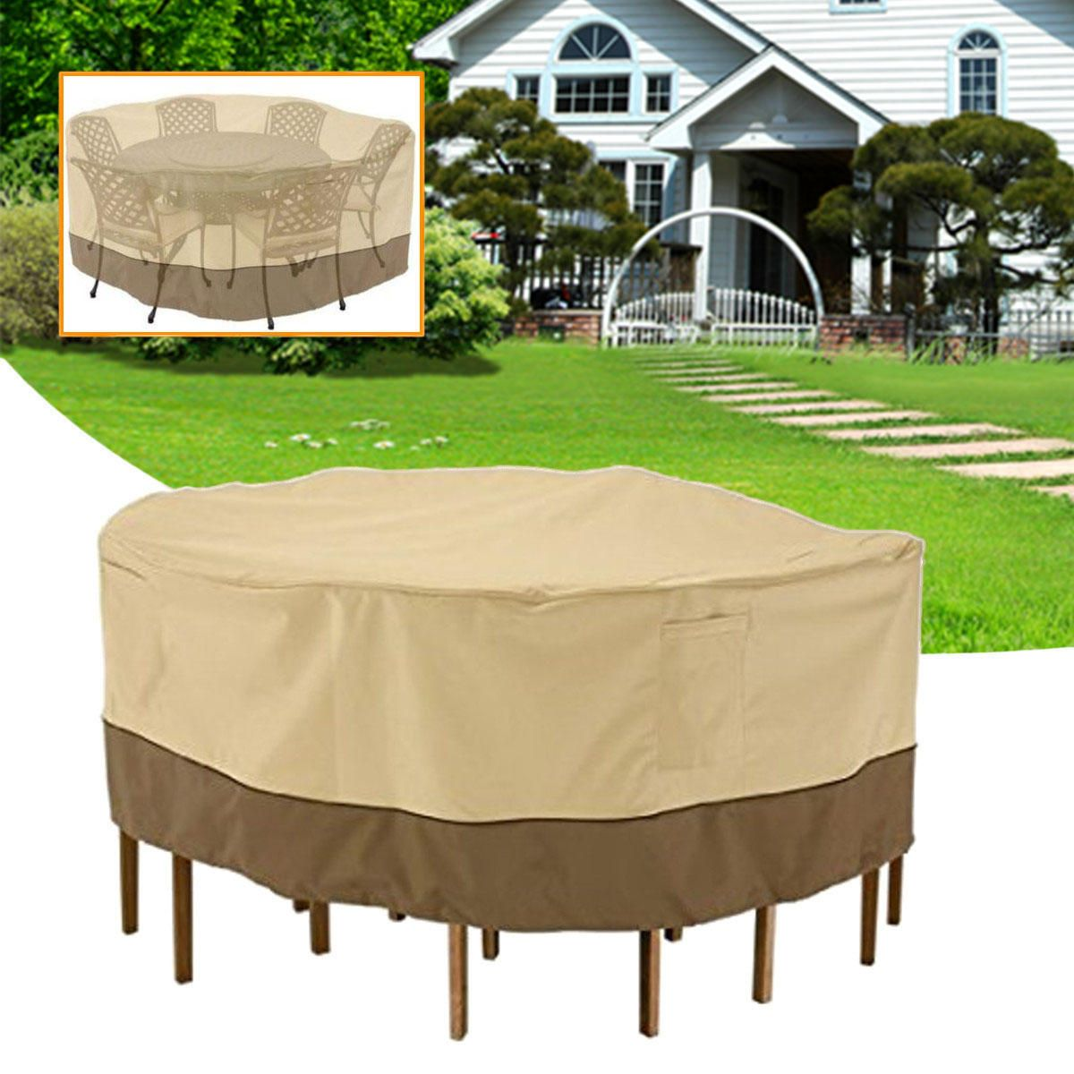 Us 36 62 Garden Round Waterproof Table Cover Patio Outdoor Furniture Set Shelter Protection Furniture From Home And Garden On Banggood Com Outdoor Furniture Sets Outdoor Patio Furniture Covered Patio