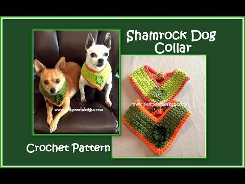 Posh Pooch Designs Dog Clothes Shamrock Dog Collar Crochet Pattern