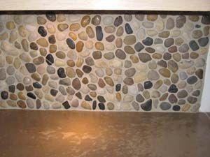 River Rock Backsplash Kitchen Backsplash Diy Backsplash Backsplash