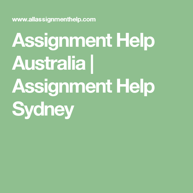 Do my assignment sydney