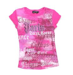11 / Pink Paris t-shirt / T-shirt rose Paris | Changeroo.ca