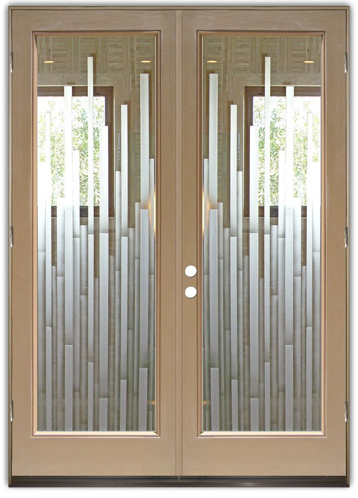 Mosaics 3d double entry doors hand crafted sandblast frosted and 3d carved available as - Interesting closet doors ideas types of doors you can use ...