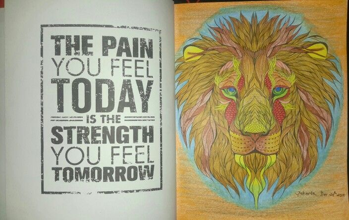 Coloring Book For Adults My Own World Antistress Lion