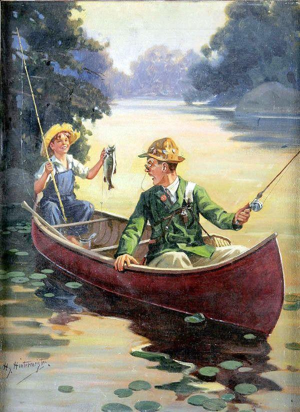 Рыбалка картинки декупаж