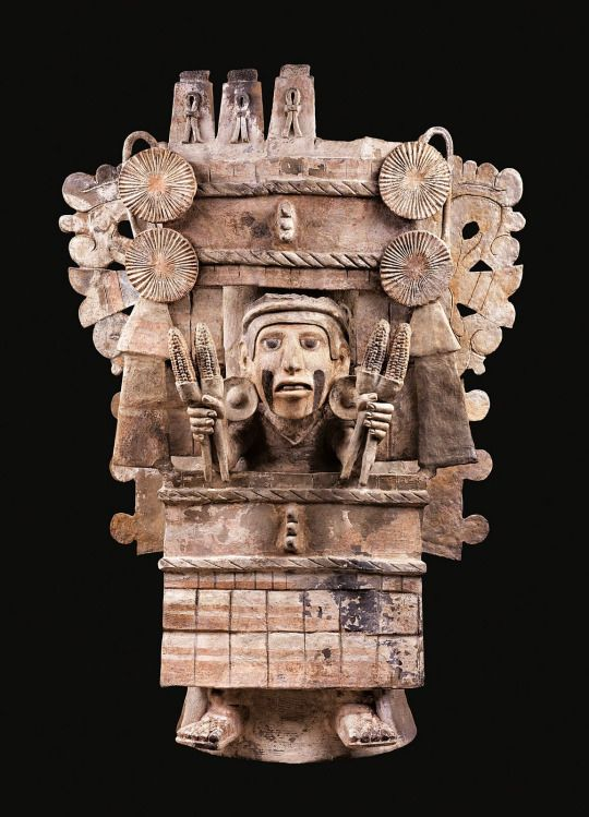 Incensario Depicting Chicomecoatl. Mesica-Azteca, Tiahuac ...