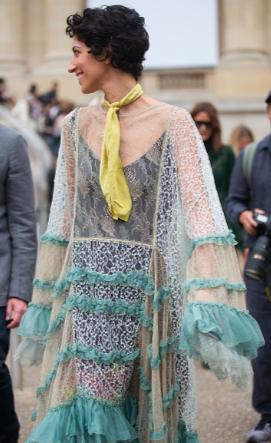 Street Style : Day Three Paris Fashion Week Spring/Summer 2017. Chloe Dress. Yasmin Sewell.