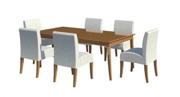 Dining Table Chair Revit Arquitetonico Moveis