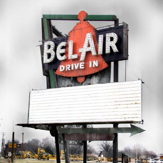 Photo of Route 66 – BelAir Drive-In Outdoor Movie Theater- 11×11 Fine Art Photo