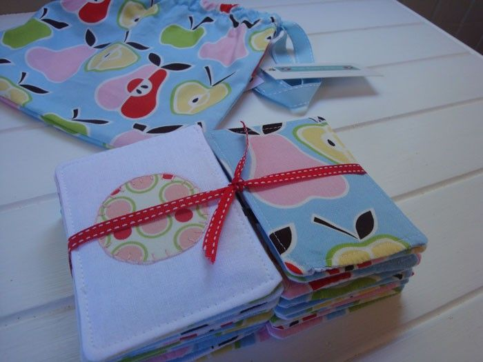 Apples  Pears Fabric Memory Card Game - by TheTwinThingHandmade on madeit