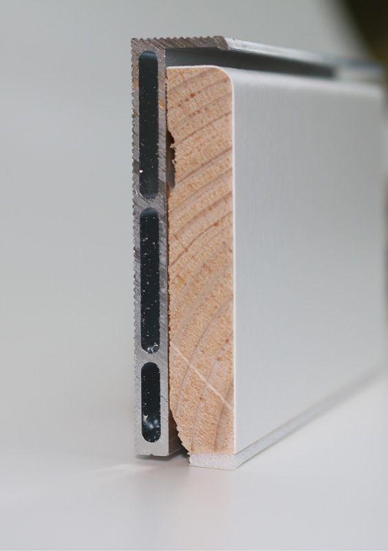 Photo of Alu Sockelprofil  mit Holzsockelleiste gerundet  für  perfekte Schattenfuge  Gl…