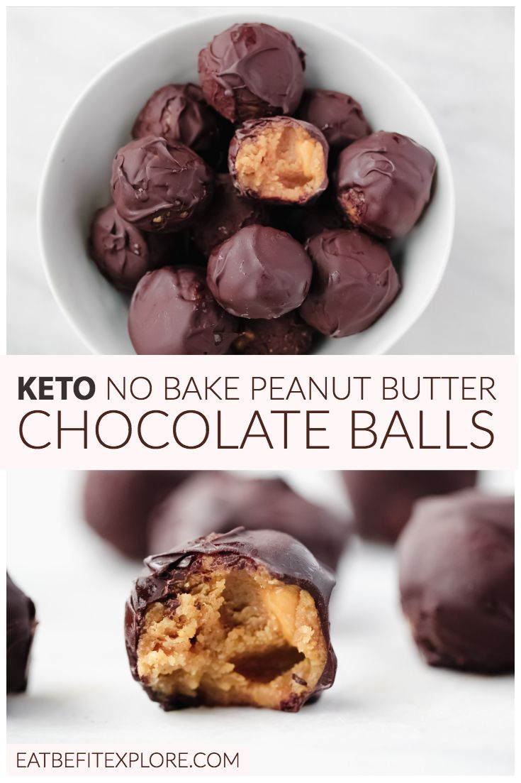 Keto No Bake Peanut Butter Chocolate Balls