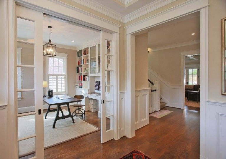 Sliding French Door Decorating Ideas Pictures In Home Office Traditional Design Ideas 1 French Doors Interior Home Office Design Traditional Home Office