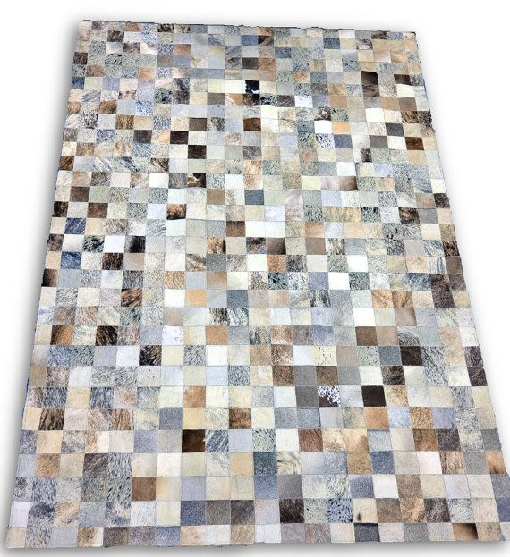 New Brazilian Cowhide Patchwork Rug G 390 Size By Cowhidesusa