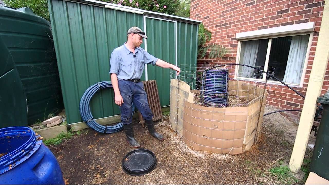 Compost Heater Permaculture Our Urban Design Part 6