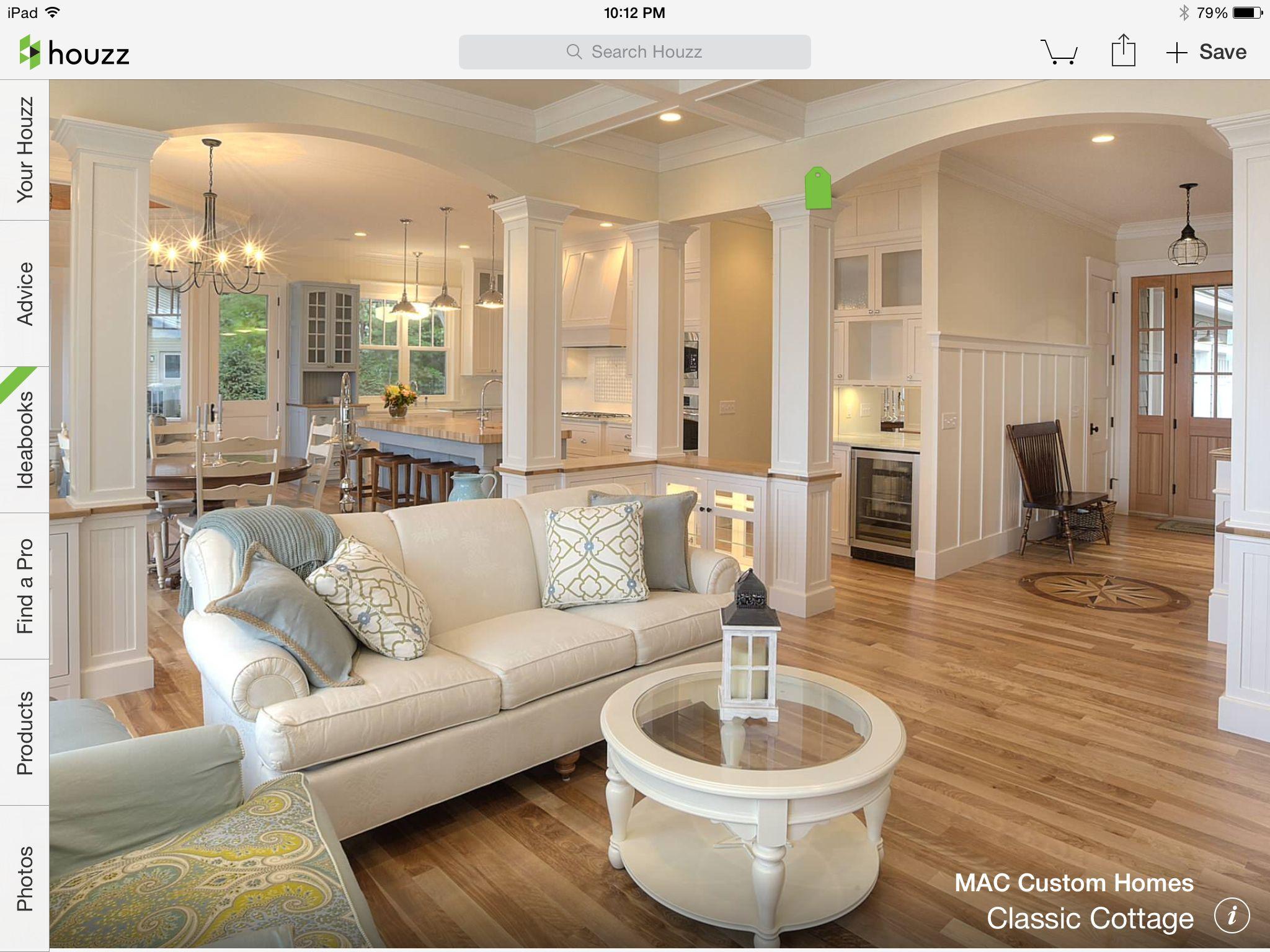 MAC Homes living room Wet bar