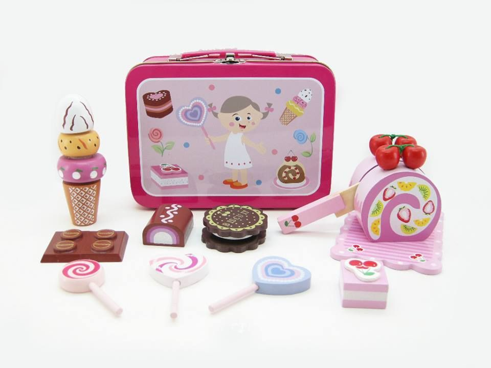 Educational / Fun / Old Fashioned Wooden Toys -Machiko - a boutique for kids - Wooden Sweet Set , $24.95 (http://www.machikobaby.com.au/products/wooden-sweet-set.html)