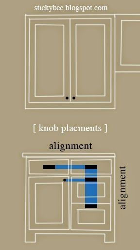 kitchen knobs wall cabinet resume template instant download cv cover letter diy sticky bee hardware placement