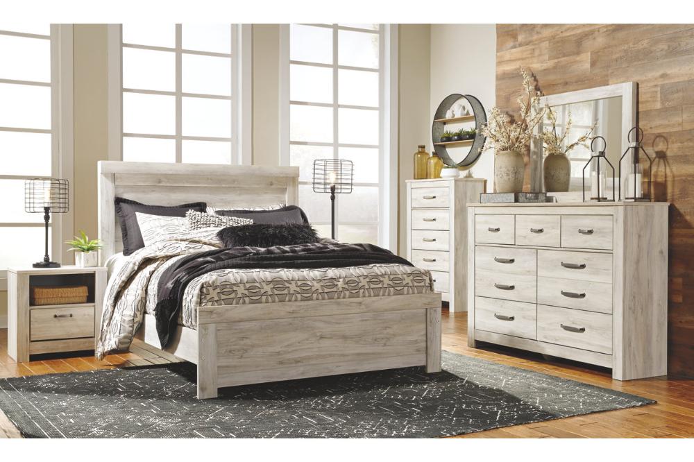 Bellaby Queen Bed with 2 Nightstands Bedroom furniture