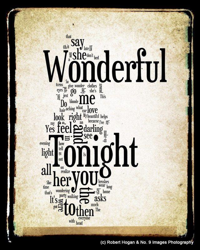 Wonderful Tonight Lyrics | Sound of the soul | Pinterest ...