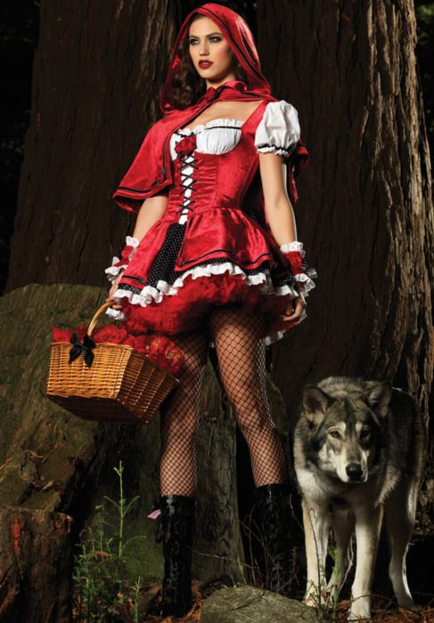 Now that's a red riding hood outfit!
