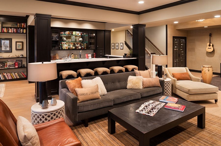 basement interior design - 1000+ images about Basement on Pinterest Basement bars ...