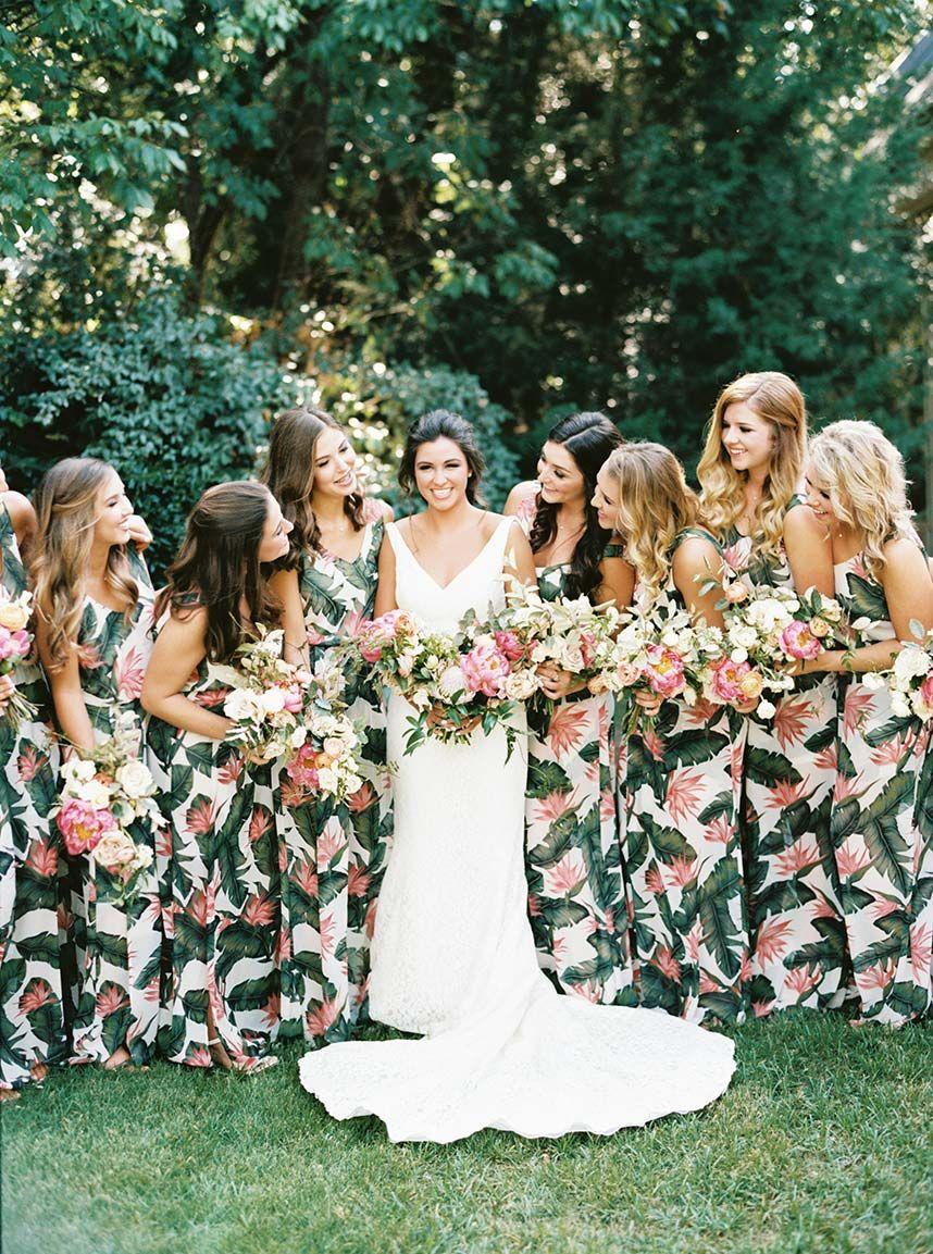 Mckinley Clark Weds Tyler Barnes Bridesmaid Printed Bridesmaid