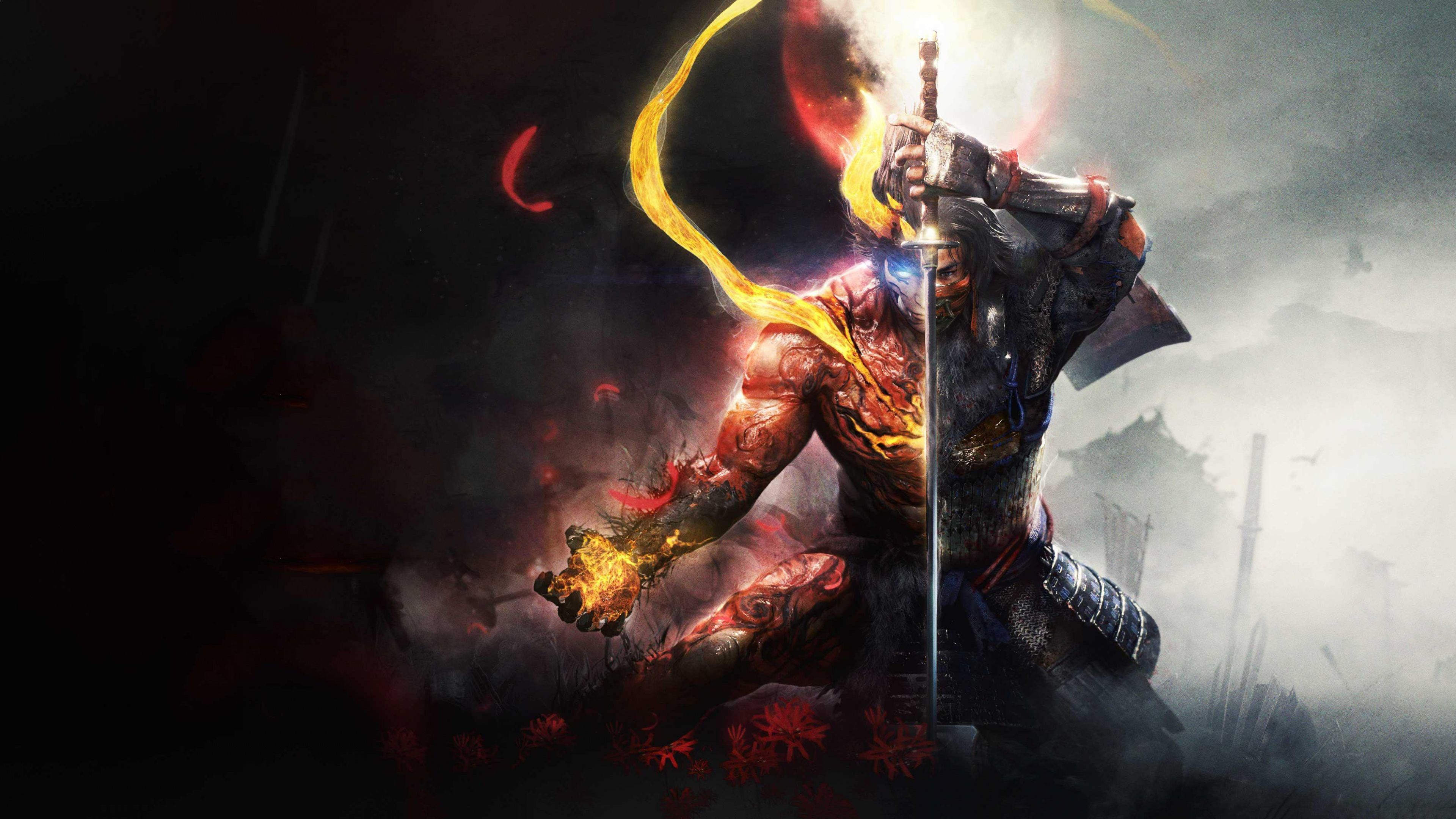 3840x2160 Nioh 2 Video Game Warrior Artwork Wallpaper 3840x2160 Wallpaper Beautiful Wallpapers Game Reviews