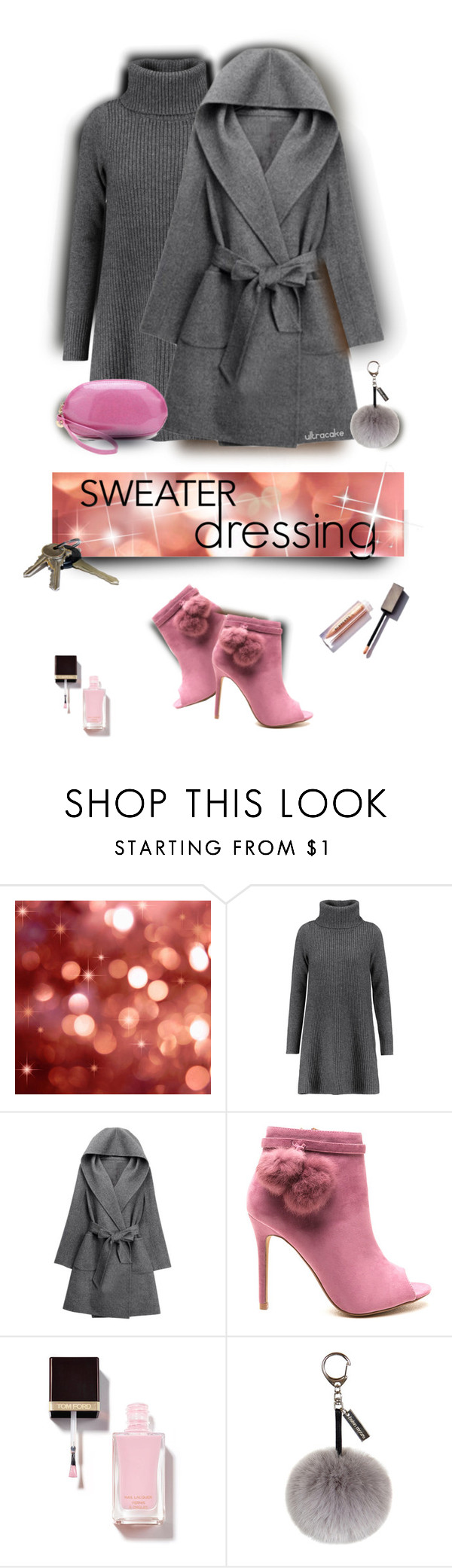 """Sweater Dressing"" by ultracake ❤ liked on Polyvore featuring Madeleine Thompson, WithChic, Helen Moore, Avon, anklebooties, coats, sweaterdress and ultracake"