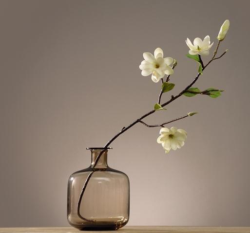 Artificial White Magnolia Stem Artificial Flower Silk Flowers Flux Flowers Artificial Floral White Magnolia Silk Flower Arrangements Vase Arrangements