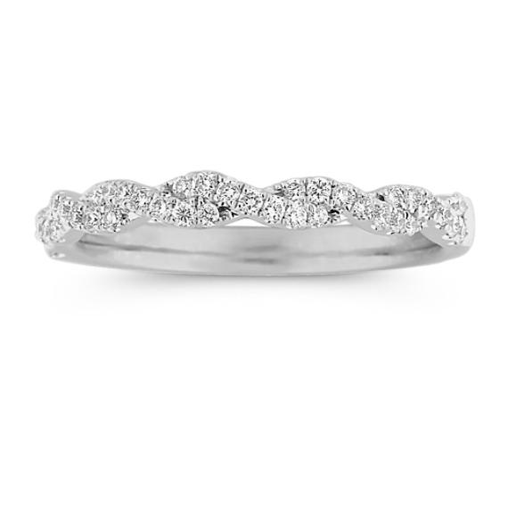 Infinity Twist Pave Set Diamond Wedding Band In 2020 Diamond Wedding Bands Engagement Ring Buying Guide Infinity Wedding Band