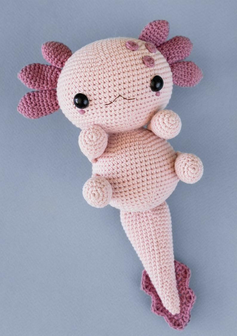 Axolotl Plushies Crochet animal Amigurumi pattern