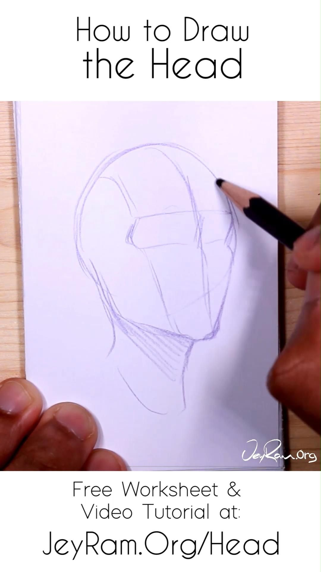 How To Draw The Head Looking Up Or As Seen From Below Video In 2020 Drawing Tutorial Face Portrait Drawing Face Drawing