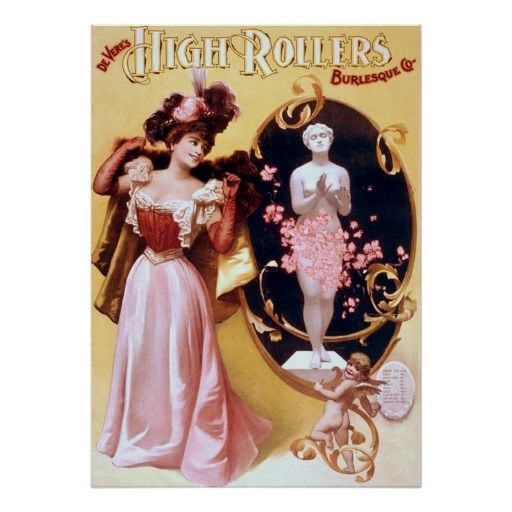 Devere's High Rollers Burlesque Poster