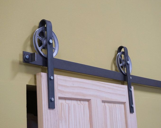 Heavy Duty Industrial Sliding Barn Door Closet By Thewhiteshanty