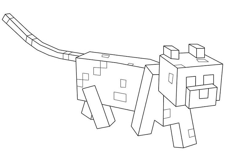 Minecraft Coloring Pages Ocelot Prinzewilson Com Minecraft