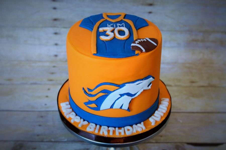 www.facebook.com/nyocakes serving the Cedar park , Austin, and surrounding Texas areas. A Bronco's Birthday  - Cake by Not Your Ordinary Cakes
