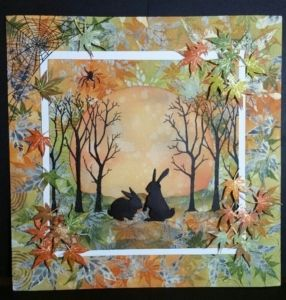 Lovely samples from Lavinia stamps talented design team for Septembers monthly challenge Autumn Hues