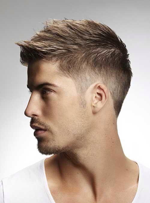 Slight Faux Hawk With A Medium Fade Trendy Short Hair Styles Mens Hairstyles Boy Hairstyles