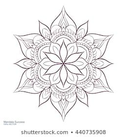 Mandala Success Circular Ornament On White Stock-Vektorgrafik (Lizenzfrei) 440735908