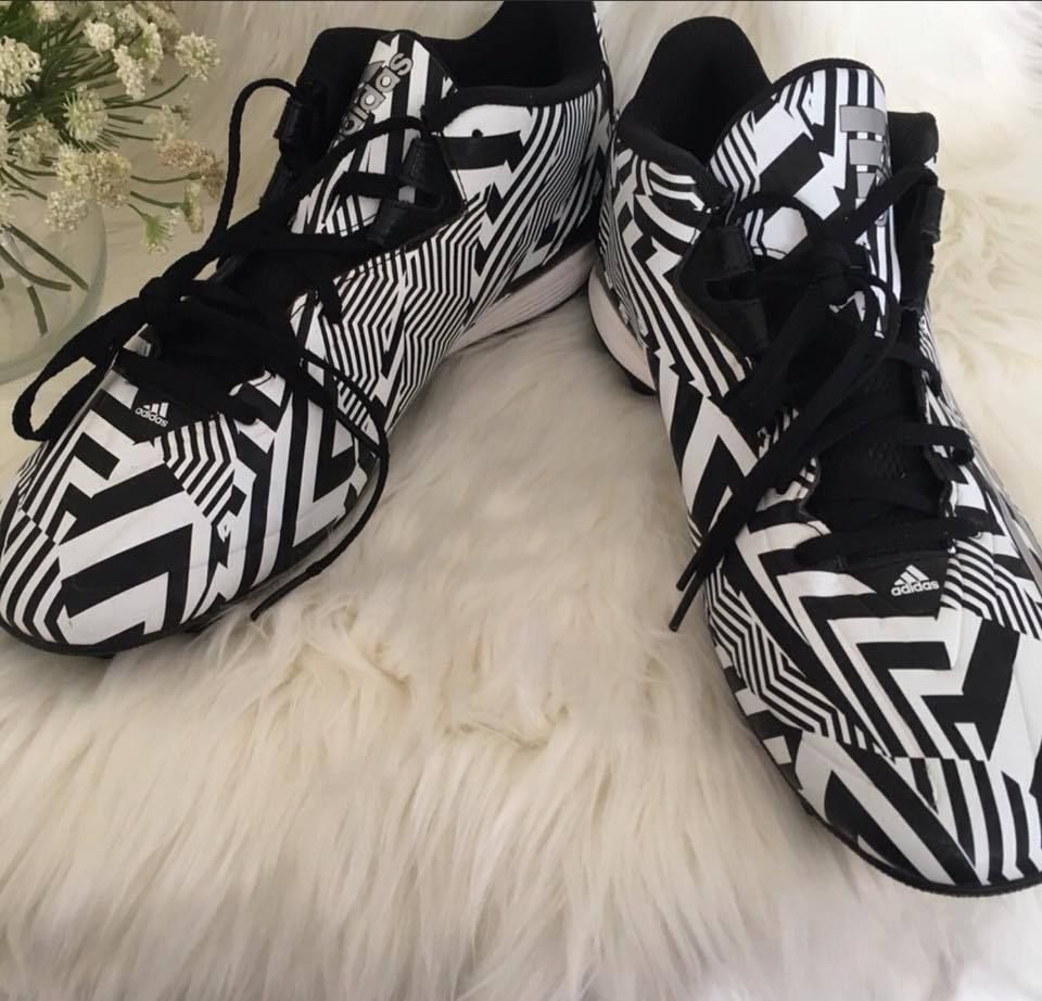 huge selection of 44783 e72f2 Adidas Filthyspeed Low D Football Cleats Mens 13 Black White Camo Adizero  New Adidas