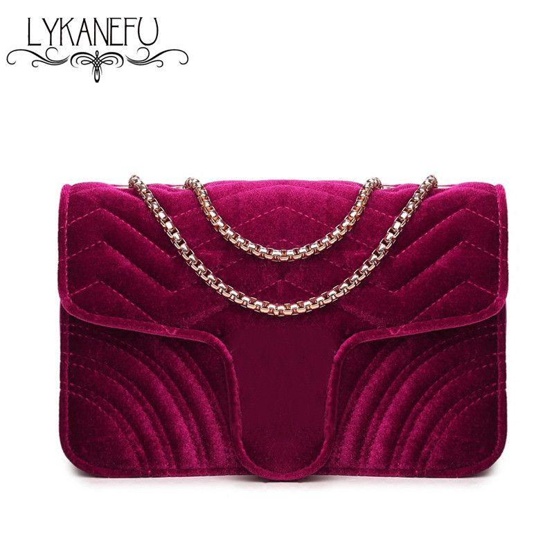 LYKANEFU Winter Handbag Women Bag Ladies Purse with Long Chain Bag ...