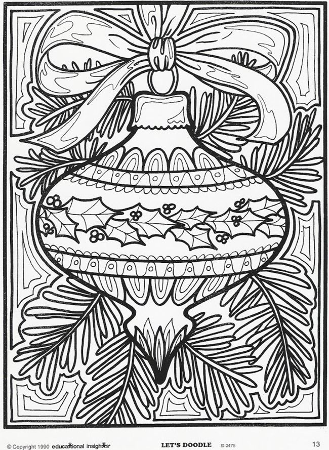 christmas printable coloring page ornament for christmas - Coloring Pages Christmas Ornaments