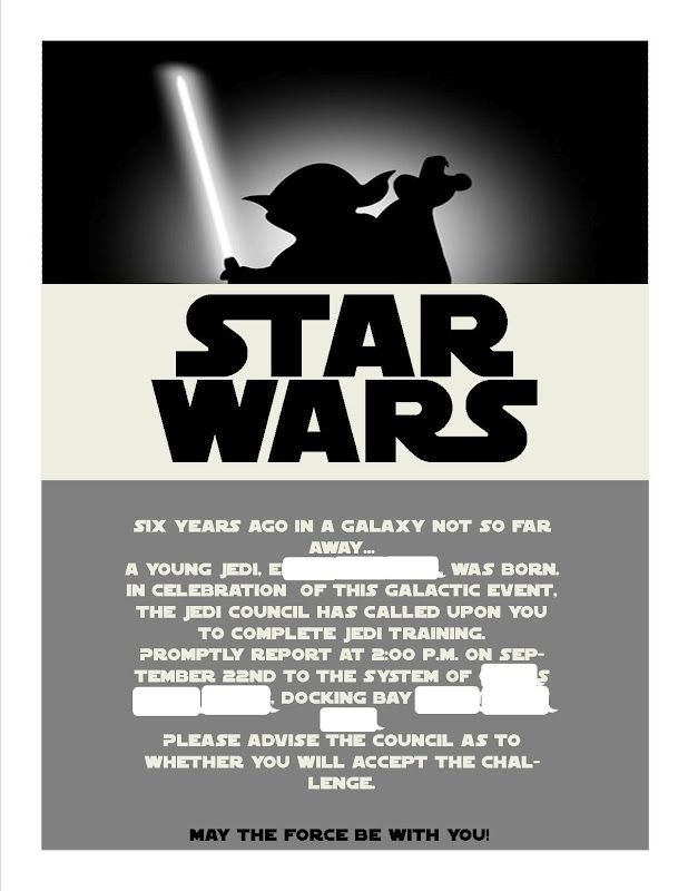 star wars invitations template - Google Search PARTY star wars - downloadable invitation templates