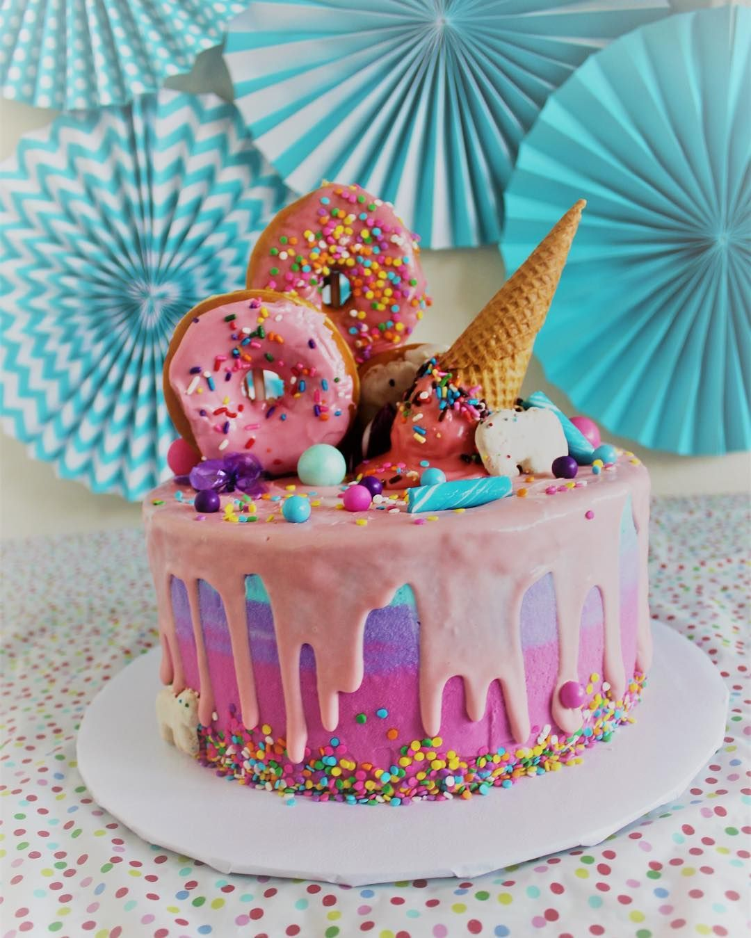 Whimsical Ice Cream Cake Made With The Curious Creamery Mix