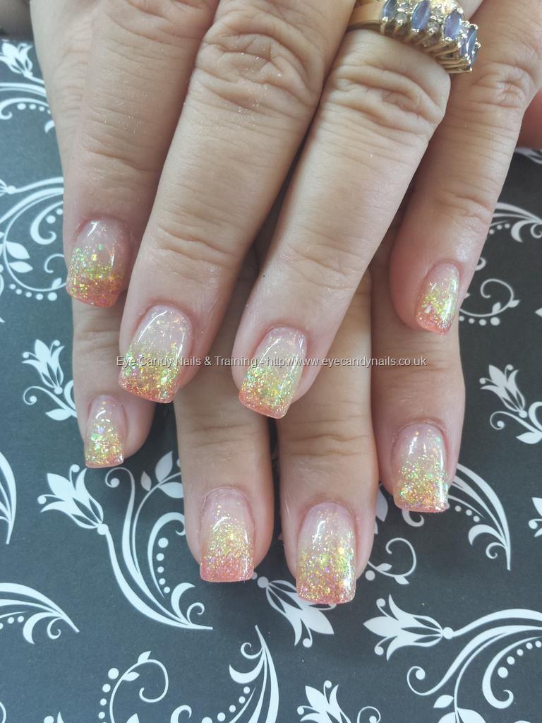 Yellow and orange glitter fade acrylics | Nails Nails Nails ...